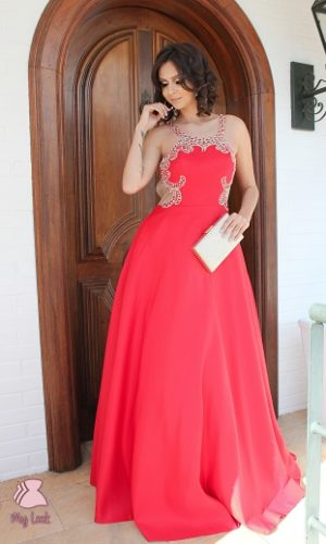 Vestido princesa vermelho L108