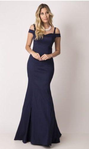 Vestido azul marinho L142