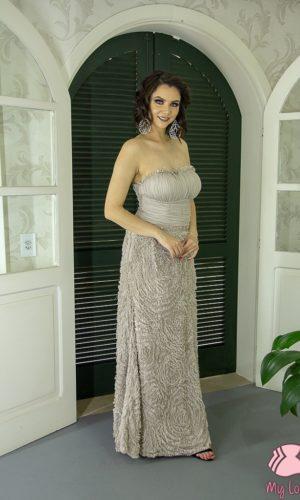 Vestido bege L60