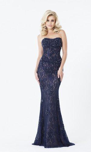 Vestido azul marinho L66