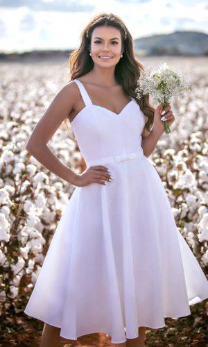 Vestido curto branco L1019