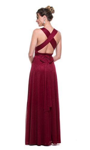 Vestido marsala L1009