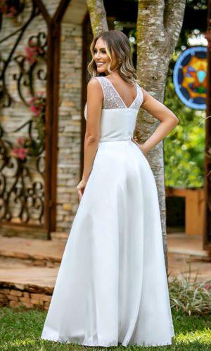 Vestido Branco L1367A