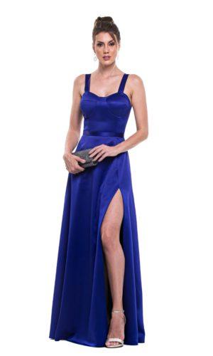 Vestido azul royal L1002