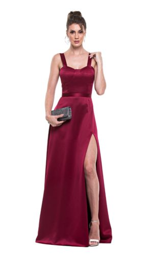 Vestido marsala L1002