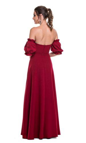Vestido Marsala L996