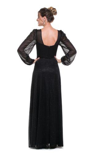 Vestido Preto Mangas Longas L1013