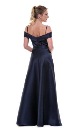 Vestido azul marinho L969