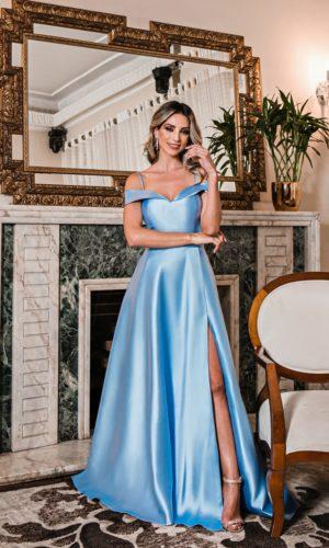 Vestido azul serenity L969