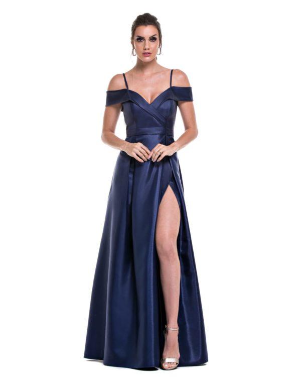 Vestido azul marinho L991