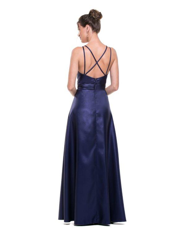 Vestido azul marinho L1005