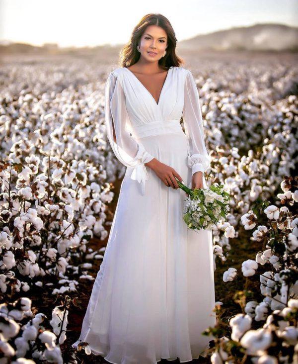 Vestido Branco L1015