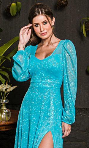 Vestido Tiffany Mangas Longas L1013